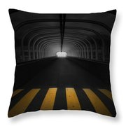 Lost In The Shadows I Walk Alone Throw Pillow
