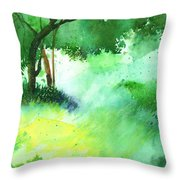 Lost In Thought Throw Pillow by Anil Nene