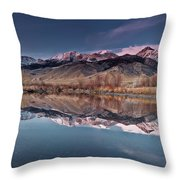 Lost River Range Winter Reflection Throw Pillow