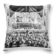 Lottery, 1873 Throw Pillow