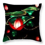 Lotus Lanterns 4 Throw Pillow
