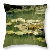 Lotus Pond 2 Throw Pillow