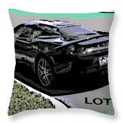 Lotus Position Throw Pillow