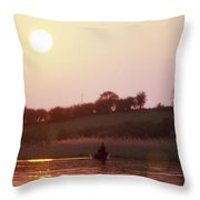 Lough Arrow, Co Sligo, Ireland, Angling Throw Pillow