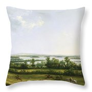 Lough Erne From Knock Ninney - With Bellisle In The Distance Throw Pillow