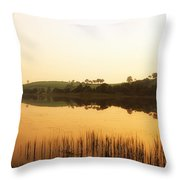 Lough Muck, County Tyrone, Ireland Throw Pillow