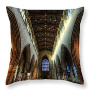 Loughborough Church Ceiling And Nave Throw Pillow