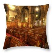 Loughborough Church Pews Throw Pillow