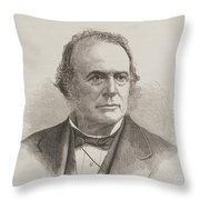 Louis Agassiz, Swiss-american Polymath Throw Pillow