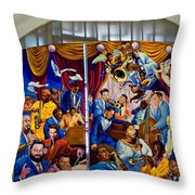 Louis Armstrong Airport Throw Pillow