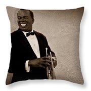 Louis Armstrong S Throw Pillow