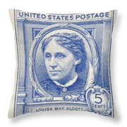 Louisa May Alcott (1832-1888) Throw Pillow