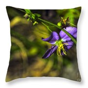 Louisiana Wildflower Throw Pillow