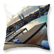 Lounging Poolside Throw Pillow