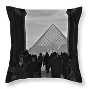 Louvre Archway Throw Pillow