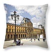 Louvre Museum Throw Pillow by Elena Elisseeva