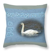 Love - I Love You Greeting Card - Mute Swan Throw Pillow