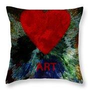 Love Art 3 Throw Pillow
