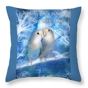 Love At Christmas Card Throw Pillow