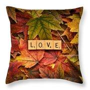 Love-autumn Throw Pillow