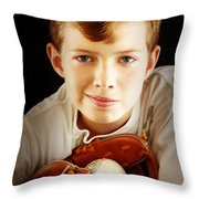 Love Baseball Throw Pillow by Lj Lambert