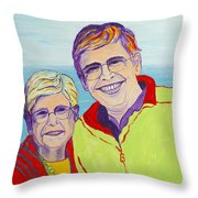 Love Between A Mother And Son Throw Pillow