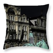 Love Each Other And Wish The Truth To Everyone - Jan Hus Prague Throw Pillow