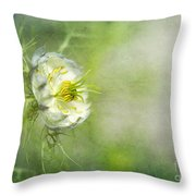 Love In A Mist Floral Throw Pillow