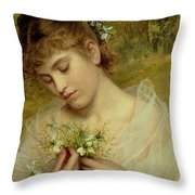 Love In A Mist Throw Pillow by Sophie Anderson