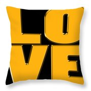 Love In Gold Throw Pillow