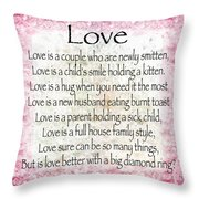 Love Poem In Pink Throw Pillow
