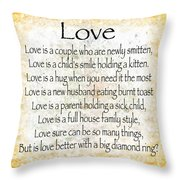 Love Poem In Yellow Throw Pillow