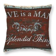 Love Is A Many Splendid Thing Throw Pillow