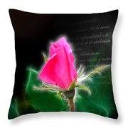 Love Is Electrifying Throw Pillow