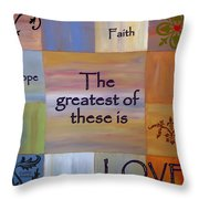 Love Is Everything Throw Pillow