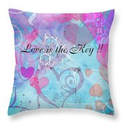 Love Is The Key Throw Pillow