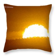 Love Is The Sunshine Throw Pillow