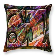 Love Letters H Throw Pillow