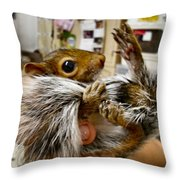 Love My Tail Throw Pillow