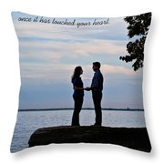 Love Never Goes Throw Pillow