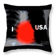 Love Of Country Throw Pillow by Joe Jake Pratt