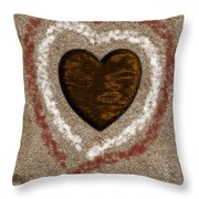 Love On The Beach Throw Pillow