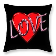 Love Pink And Red  Throw Pillow