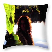 Lovely Lady Evening Light Throw Pillow