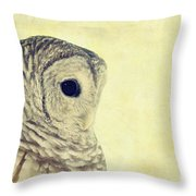 Lovely Lucy Barred Owl Throw Pillow