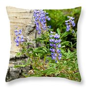 Lovely Lupine Throw Pillow
