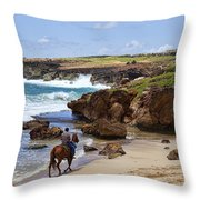 Lovely Ride Throw Pillow