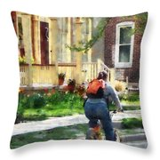 Lovely Spring Day For A Ride Throw Pillow