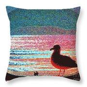 Lovers Beach Throw Pillow