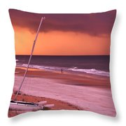 Lovers Embrace On The Shoreline Throw Pillow